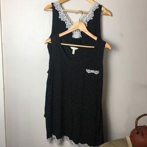 Soma Black & White Polka Dot Nightgown Bundle